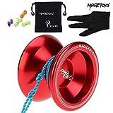 Originale Yo-Yo Magico T5 Overlord Alluminio Professionale Yo-Yo Yoyo Palle + Guanti +5 Strings