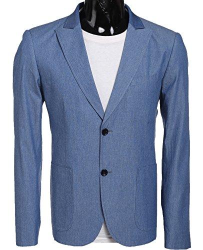 Coofandy Herren Anzugjacke Slim Fit Modernes Sakko mit 2 Kn?PFEN Hellesblau Blazer Business Freizeit (Zwei-knopf-blazer Mit Einreiher)