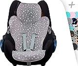 JANABEBE Colchoneta Universal para silla de coche desde el grupo 0,1,2,3 (WHITE STAR)