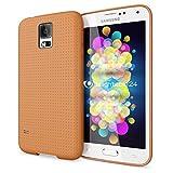 NALIA Handyhülle für Samsung Galaxy S5 S5 Neo, Hülle Ultra-Slim Case Cover, Dünne Punkte Schutzhülle, Etui Handy-Tasche Back-Cover Bumper, TPU Silikon-Hülle für Samsung S5 Neo S5 - Mesh Orange