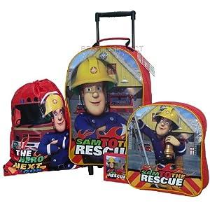 Trade Mark Collections Fireman Sam Travel Set includes Wheeled Bag/ Backpack/ Trainer Bag/ Wallet by Trade Mark Collections