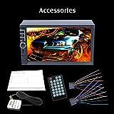 Auto MP5 Player, 7740 2 Din Auto MP4 / MP5 Player 7 Zoll Touchscreen mit Radio GPS-Funktion SD USB AUX Rückansicht Lenkradsteuerung Auto Player