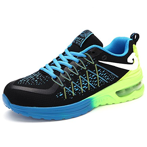HYLM Coppie Sport On Air Cushion Scarpe Ammortizzamento Running Shoes morbide scarpe traspiranti 5682 boln green