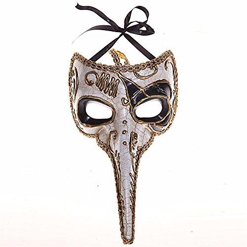 (Maskerade,Venedig Maske Retro-Maske Sprühfarbe Half Face Maske schwarz Masquerade)