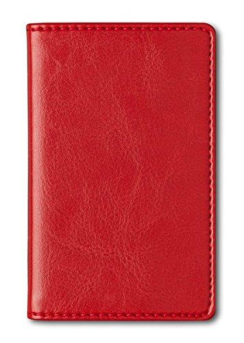 Adressbuch Mini Glamour Red - Notizbuch / Taschenplaner rot (6,5 x 10,5) - 112 Seiten