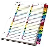 Kardinal von Tops Produkte OneStep Printable Inhaltsverzeichnis und Register 52 Reiter merhfarbig
