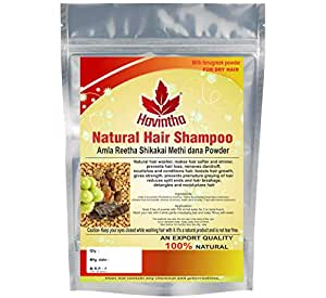 Natural Hair Shampoo with Amla, Reetha, Shikakai and Methi dana - 227 grams. (Advanced shampoo)