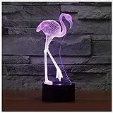 Geschenk 3D Nachtlicht Luminaria Flamingo 3D Led Lampe Energienbank Leuchten Luminaria De Mesa Wireless Wandleuchte