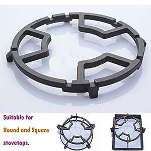 Tamume Universal Black Cast Iron Stove Trivets For Kitchen Wok