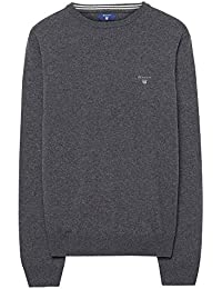 Gant Super Fine Lambswool Crew, Pull Homme