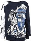 Doctor Who Villain Top Sweatshirt blau/weiß L