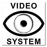 10 Stück 7cm Video System Aufkleber Sticker Warnung Hinweis Balkon Tür Fenster Rahmen