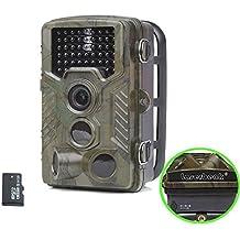 Trail cámara IP56 a prueba de choques 2.4LCD 12MP 1080P HD lente PIR 120 grado 46pcs LEDs IR apoyar la cámara de visión nocturna Caza de Vigilancia de la Vida Silvestre con la tarjeta del TF 8G