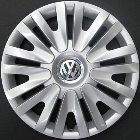 Set de 4 tapacubos nuevos para Volkswagen Golf 6 / Golf 5 / Polo 5 con llantas originales de