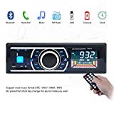 Kingtoys®1 DIN MP3-Autoradio digital Media Receiver mit ISO Android Smartphone Control Funktion(Bluetooth,4x 60Watt,USB,Aux-Eingang,SD-Speicher) (KT-6203 Updated Schwarz)