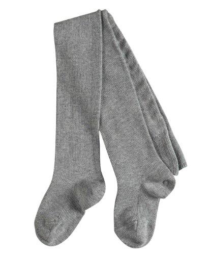 FALKE Babys Strumpfhosen / Leggings Family - 1 Paar, Gr. 74-80, grau, blickdicht, Baumwolle Komfortbündchen, hautfreundlich, Mädchen Jungen