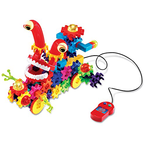 Learning Resources Gears! Gears! Gears! Wacky Wiggs Motorisiertes Bauset,