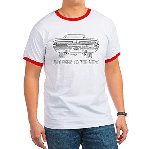 CafePress - Charger-Outline-Black- - Ringer T-Shirt, 100% Cotton Ringed T-Shirt, Vintage Shirt