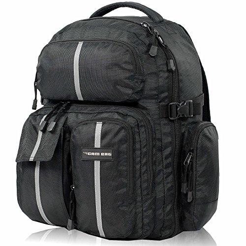 Kamerarucksack CAMBAG Fotorucksack D-SLR Laptop Rucksack Kameratasche Schwarz - Auswahl (Bristol - Backpack XL) Extra Large Camera Bag