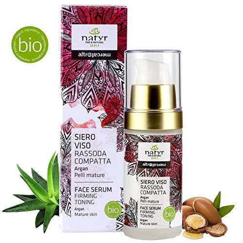 Natyr® Bio Hyaluronsäure Serum - Die Nr.1 Gesichtspflege-Creme aus Italien - Argan-Öl, Aloe Vera & feiner Honig - Feuchtigkeitspflege & Naturkosmetik für reife Haut / 30ml