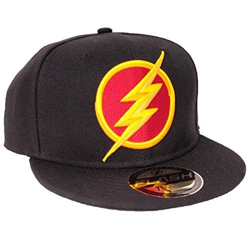 DC Comics The Flash 3D Logo Black Snapback cap