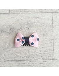 Barrette spécial nouveaux nés et bébés tient sur un seul cheveu , modèles 3,5 cm Polka