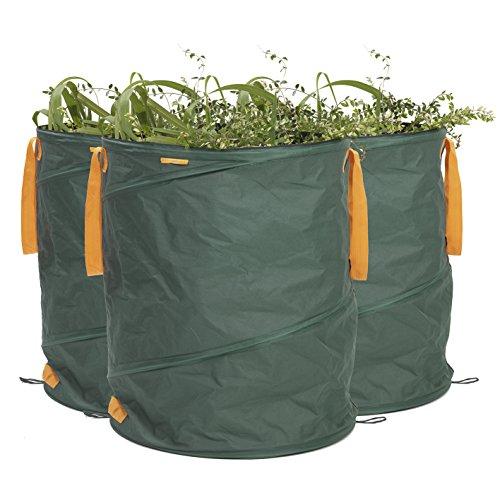 PRIMA GARDEN Gartenabfallsack 160 l | 3er Set | Pop-up Funktion | Reißfest | Wasserabweisend
