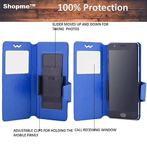Shopme Premium PU Leather 100% Protection Flip cover (BLUE COLOR) for Gionee M2 (Slider for Taking Snaps, Access to All Ports, PU Leather, 100% Protection from Spillages,Dirt )  available at amazon for Rs.299