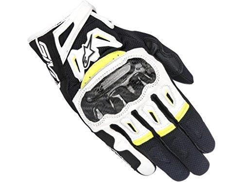 Alpinestars 1694350302 Motorrad Handschuhe, Schwarz/Weiss/Gelb, M