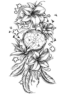 Lecoolz Henna Tattoo Schablone Airbrush Stencil Blume Amazon De Beauty