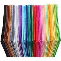 Healifty 40 UNIDS 15 x 15 cm Hojas de Tela de Fieltro Cuadrado DIY Hecho a Mano Material del Arte (Colores al Azar)