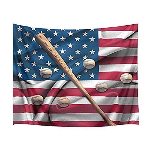 e Flaggen-Baseball-Tapisserie - Fotografie-Hintergrund-Wand-Dekor-Ausgangsdekor-Wand-Dekor-Tapisserie (B) ()