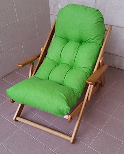 Fauteuil chaise relax chaise longue en bois pliable Harmony Luxe Coussin Super rembourré H 100 cm séjour cuisine salon canapé