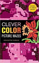Clever Color Picture Mazes: Conceptis Puzzles