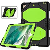 SXcase Case for iPad 9.7 2018/2017,Silicone Hard Bumper Shockproof Rugged Heavy Duty Protective