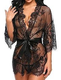 Lenceria mujer,Morwind lenceria encaje tanga ropa interior mujer sexy muy transparente ropa interior mujer sexy conjuntos camison picardias pijama