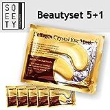 6 Paar Original GOLD COLLAGEN Augenpads mit Hyaluronsäure I Nie wieder Augenringe I Anti-Aging I by sQeety
