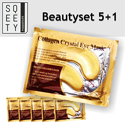 5+ 1pares de almohadillas de el oro verdadero ojo de colágeno con ácido hialurónico–no más bolsas bajo los ojos.–Antienvejecimiento–por sqeety