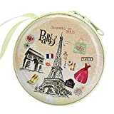 #2: Paris Skin Zipper Cable Coin Earphone Earbuds Storage Case Carrying Pouch Bag SD Card Holder Mini Box Knitting-needle Case