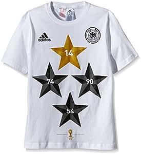 adidas Kinder T-Shirt DFB Deutschland Winner 4-Sterne, Mehrfarbig, 164, S89137