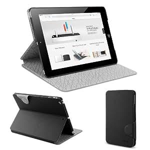 Anker® iPad Air Hülle Case Tasche Etui Schutzhülle für iPad 5 aus PU Kunstleder Folio Smart Cover mit Case im Innenteil und Multi-Winkel Ständer - Auto Sleep / Wake Funktion (Tuxedo-schwarz)