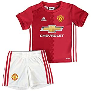 adidas MUFC H BABY - 1st Football kit Outfit of Manchester United 2015/16 for Unisex Children, 80, Red/White