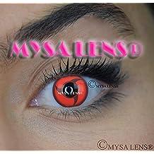 """Lente de contacto de color fantasía Crazy Lens Cosplay """"Mysa Lens®"""" ojos Naruto Sharingan Itachi 12meses sin Correction"""