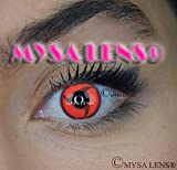 'Lenti a contatto di colore fantasia Crazy Lens Cosplay 'Mysa Lens Occhi Naruto Sharingan Itachi + Soluzione per lenti 10ml + Custodia offert- 12mesi senza correzione