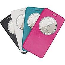Prevoa ® 丨 Elephone P7000 Funda - Flip PU S - View Funda Cover Case para Elephone P7000 5.5 Pulgadas Smartphone - Negro Color