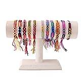 KELITCH Handmade Charm Wickel Armband Quaste Knoten Farbig Bonbon Breit Quaste Freundschaft Armbänder 10 Stück (Rot)