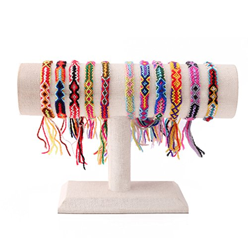 KELITCH Armband Handmade Fußband Fußkettchen Charm Wickel Makramee Knoten Farbe Bonbon Breit Quasten Freundschaft Armband 10er (Rot)