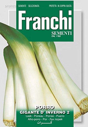 Lauchsamen – Lauch Gigante D'Inverno von Franchi Sementi