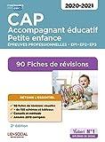 CAP Accompagnant éducatif petite enfance - Epreuves professionnelles - 2020/2021 - 90 Fiches de révisions - EP1, EP2 et EP3...