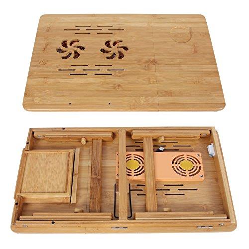 vente songmics table de lit pliable en bambou pour pc. Black Bedroom Furniture Sets. Home Design Ideas